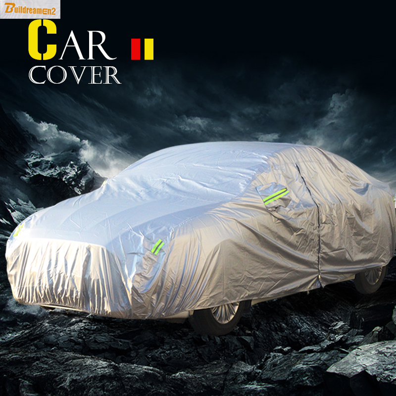 Buildreamen2 Car Cover SUV Sedan Hatchback Outdoor Anti UV Sun Rain Snow Protector Covers Sun Shade