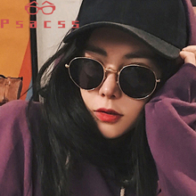 Psacss 2019 Metal Round Sunglasses For Men Women Vintage Rainbow Color Luxury Brand Designer Sun Glasses oculos de sol feminino