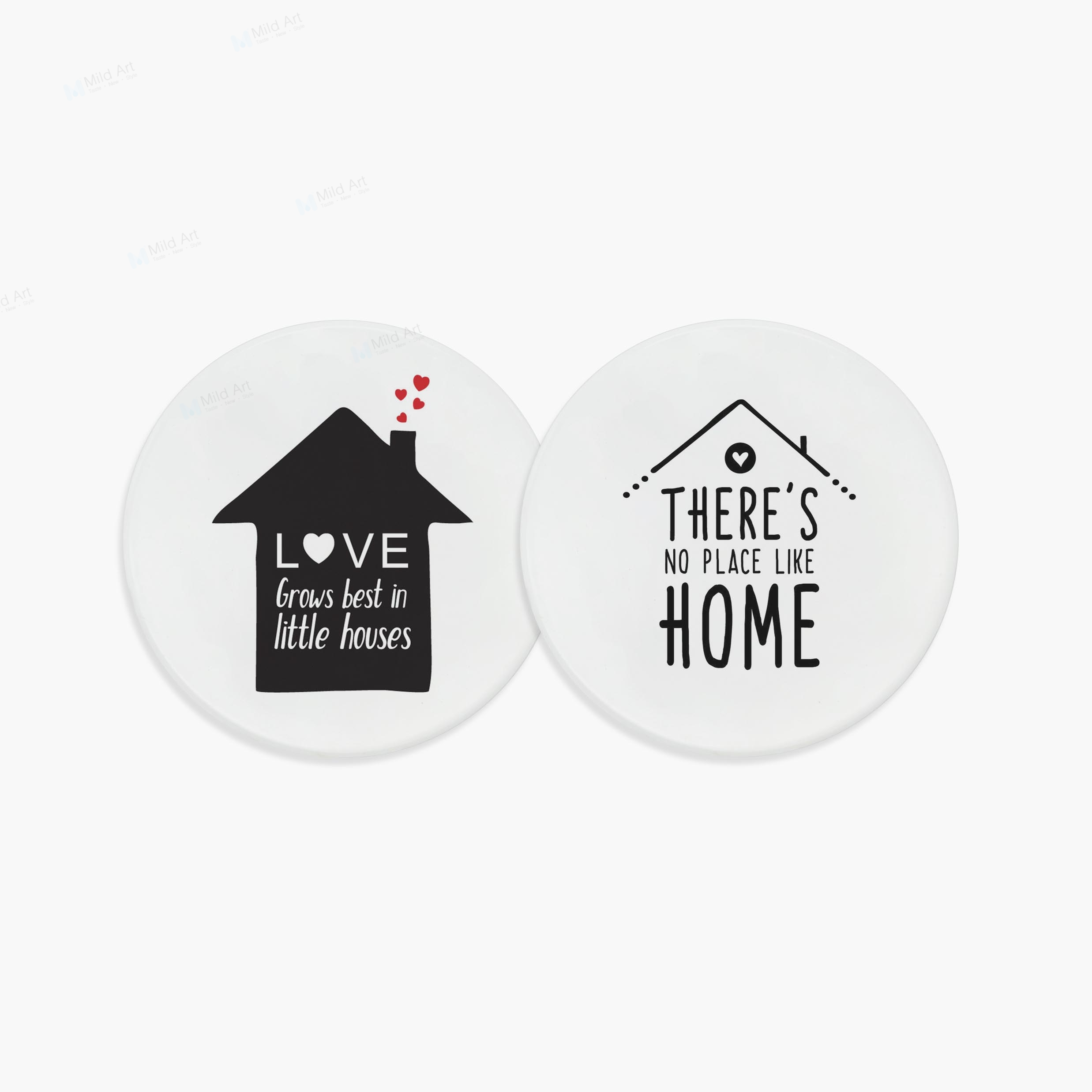 nordic style black white home house family love quotes minimal