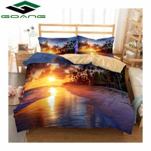 GOANG bedding set 3d natural scenery bed linen duvet cover pillow case home textile 4pcs bedclothes digital printing