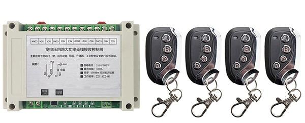 Ac220v 250v 380v 30a 4ch Rf Wireless Remote Control Switch