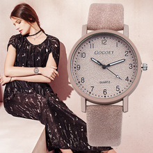Gogoey Women's Watches Luxury Leather Ladies Watch