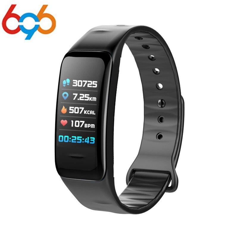 C1S Smart Wristband Heart Rate Blood Pressure Monitor Sports Watch Smart Bracelet Motion tracking Waterproof Bluetooth Band