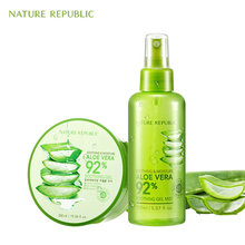 Nature Republic Korean Skin Care Moisturizing Set Aloe Vera Gel+Face Aloe Mist Cream Oil Control Acne Remove Face Cream