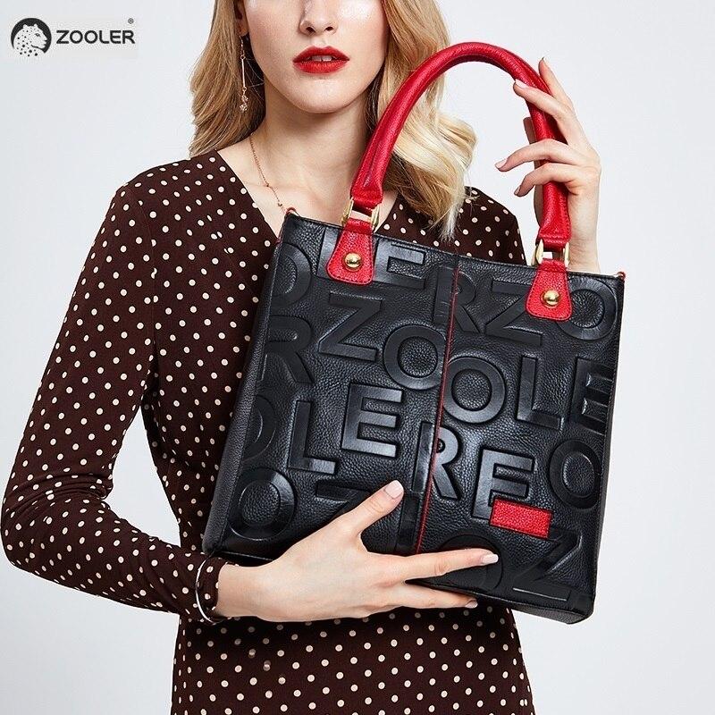 Chaude ZOOLER 2019 NOUVEAU sacs à main de luxe sacs de femme designer sac en cuir véritable femmes En Cuir de Vache Sac À Main mochila feminina # D136