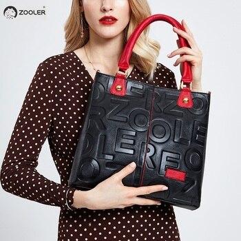 58eb9ba69e359 Sıcak ZOOLER 2019 YENI lüks çanta kadın çantaları tasarımcı hakiki deri  çanta kadın Inek Deri Çanta mochila feminina # D136