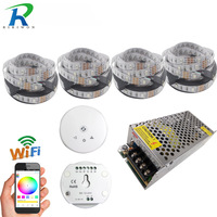 WIFI Full Set With Music Modes 20M 5050 RGB LED Strip Light Warm White and WiFi Controller For iOS iPhone iPad Android Phone