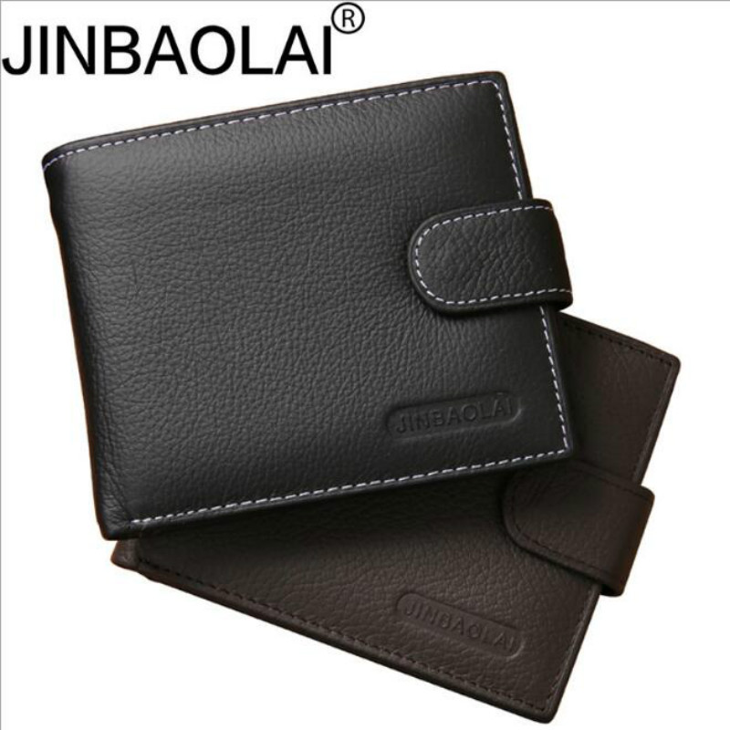 Genuine Leather Wallet Men Clip Cowhide Wallet Men 2019 Brand Coin Wallet Small Clutches Men's Purse Coin Pouch Short Men Wallet