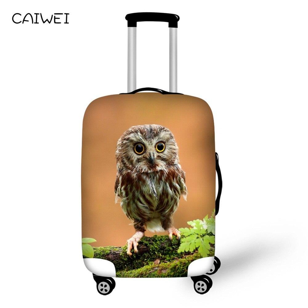 Чемодан Защитная крышка сова с животным принтом для 18 -30 тележка чемодан, эластичный путешествия чемодан Дорожный Чехол аксессуары