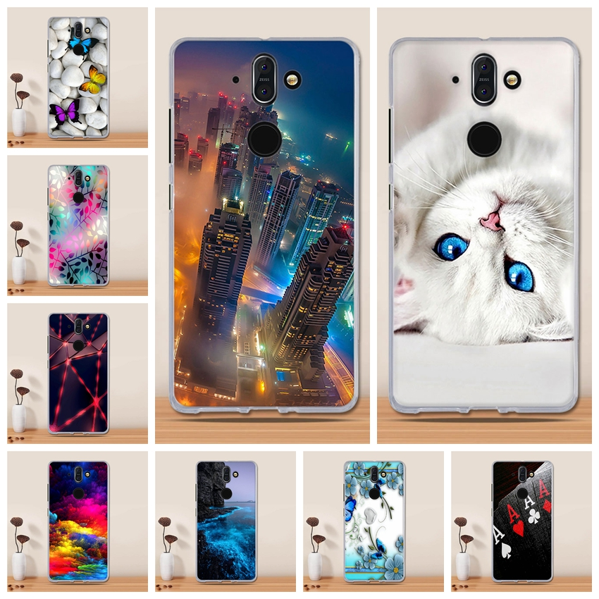 For Capa Nokia 8 Sirocco Case Cover For Nokia 8 Sirocco Soft Silicon TPU Painting Cute Back Cover For Nokia 8 Sirocco Case Coque
