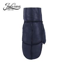 mens leather gloves  natural fur winter gloves Australian genuine fur mittens handwork   male leather mitten