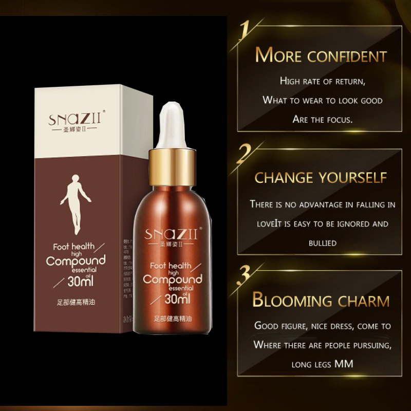 Famous Brand SNAZII Height Increasing Oil Medicine Body Grow Taller Essential Oil Foot Health Care Products Promot Bone Growth
