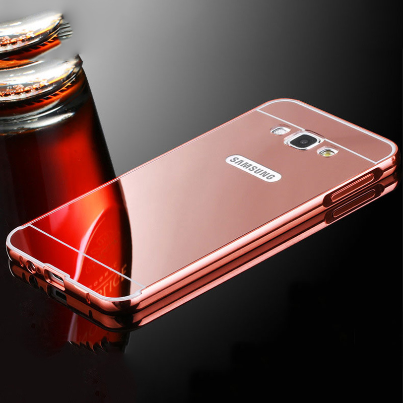 Fundas for Samsung Galaxy J3 J5 J7 2016 Case Mirror Metal Bumper + Acrylic PC Back Cover Phone Coque For Samsung J5 J7 J3 2017
