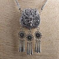 FNJ кисточка мешок кулон Цепочки и ожерелья 925 серебро для изготовления ювелирных изделий свитер новая мода оригинальный S925 тайский серебрян