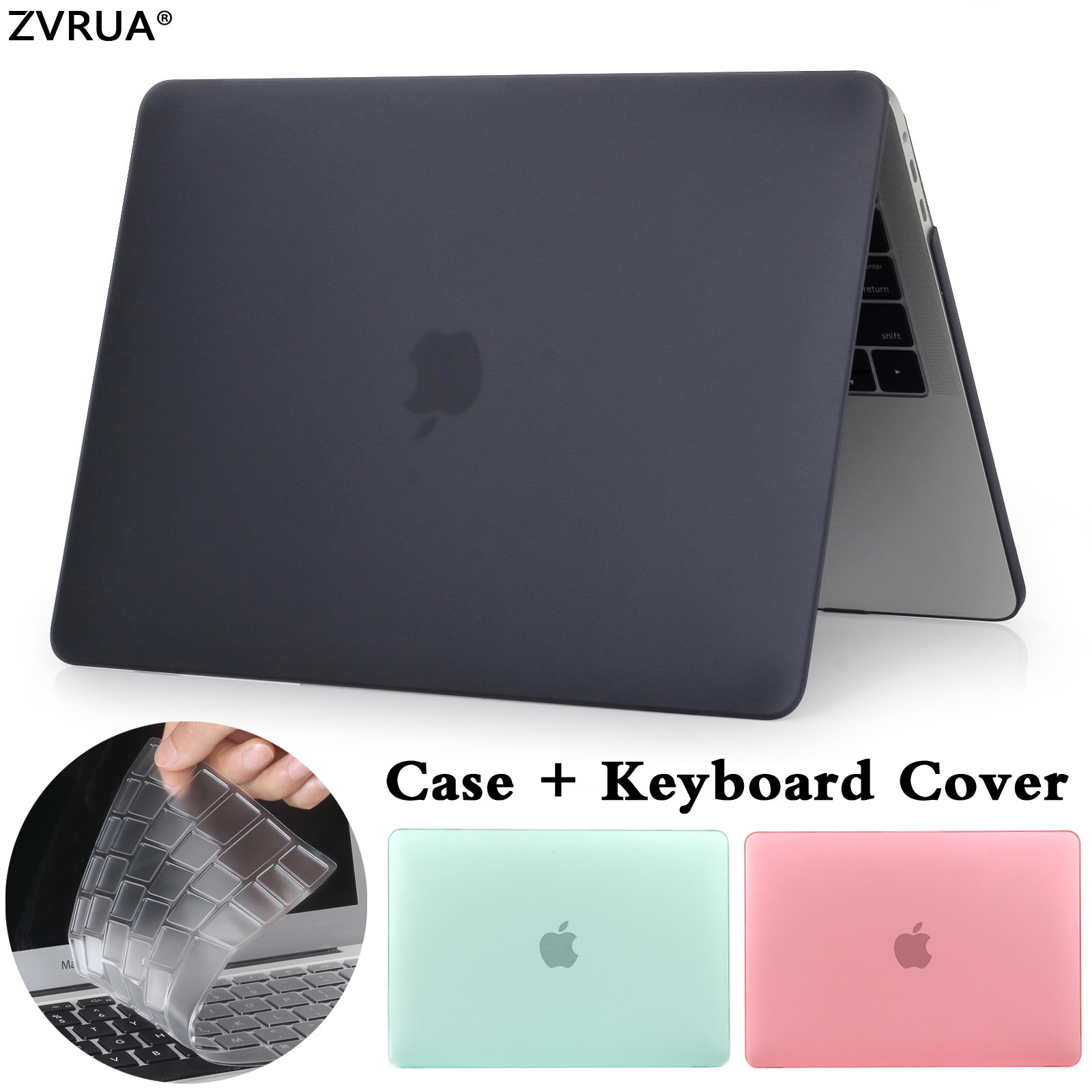 New laptop Case For APPle MacBook Air Pro Retina 11 12 13 13.3 15 15.4 inch with Touch Bar 2017 A1706 A1707 A1708+Keyboard Cover matte glitter bling case for apple macbook air pro retina 11 12 13 15 with touch bar 2017 a1706 a1707 a1708 for macbook 11 case