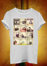 Retro Cameras Photography Hipster Men Women Unisex T Shirt  Top Vest 453 New Shirts Funny Tops Tee