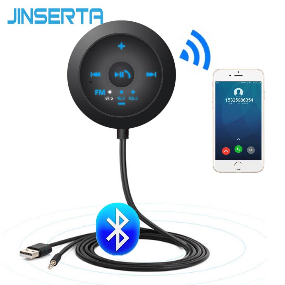 Jinserta Auto Mp3 Player Bluetooth 4,2 Fm Transmitter Hands-free Car Kit Aux Audio Mp3 Modulator Für Handy Alle Autos Tragbares Audio & Video