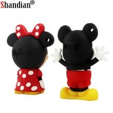 SHANDIAN Mickey and Minnie USB Flash Drive pen drive pendrive 4GB/8GB/16GB/32GB memory stick u disk
