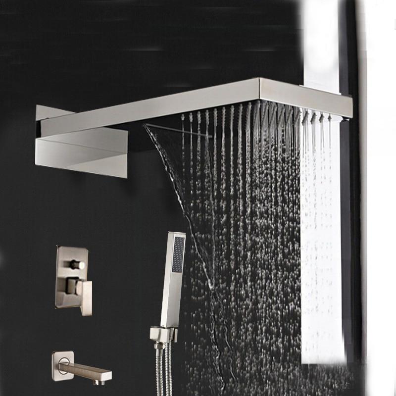 Online Buy Wholesale  Handle Tub Shower Faucet Brushed Nickel - Brushed nickel tub shower faucet set