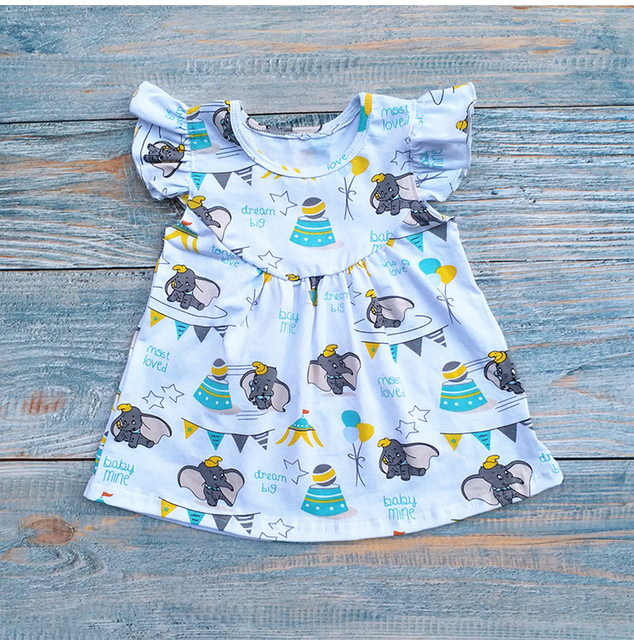43badf704 2018 Hot sale personalized dumbo dress pearl sleeves design baby girl  summer dress