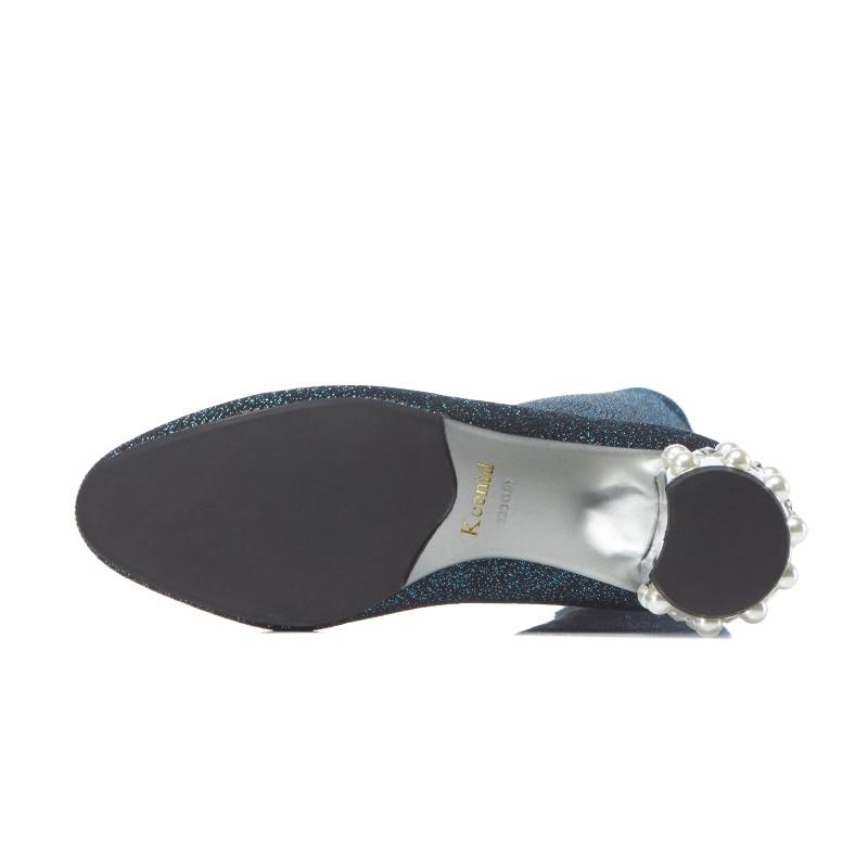 Moda Mujeres Perla Punto Tinto 2018 De Gris On Kcenid Zapatos Nueva vino Mujer Rodilla Slip La Botas Tacones Cristal verde Estiramiento Altas Sobre Calcetines Ad0FqZwEZ