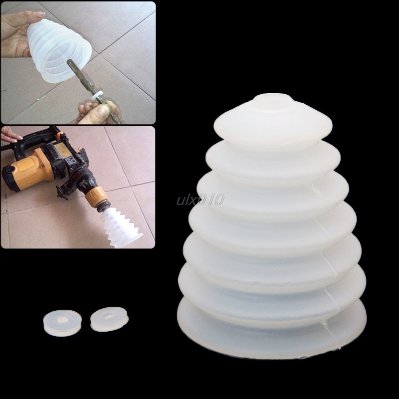 Drill Dust Collector White Rubber Dust Cover Electric Hammer Drill Dust Cover Electric Drill Power Tool Accessories July DropShi free shipping original electric hammer drill speed control switch for bosch tsb1300 gsb500re power tool accessories