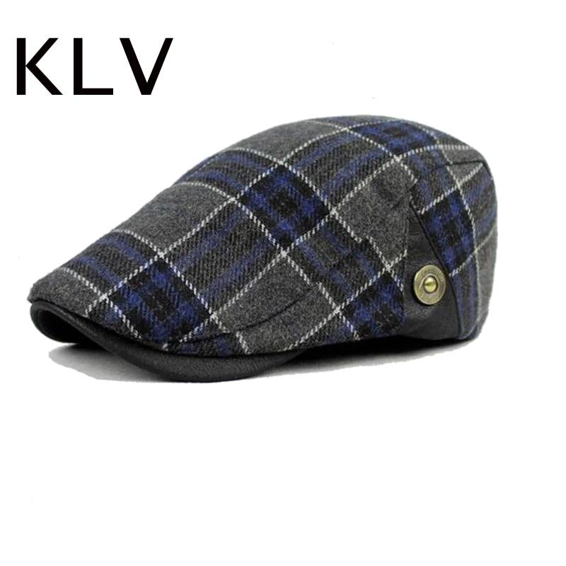 2016 nova boina unissex gorras planas boinas boinas bonés planas xadrez inverno quente chapéus para mulheres masculinas ht51040 + 30