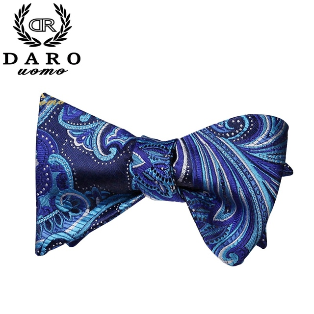 Moda Masculina Gravata borboleta Conjunto Impresso Jacquard Laços Paisley Lenço Quadrado Bolso para Festa de Casamento Terno de Negócio dos homens -- 4