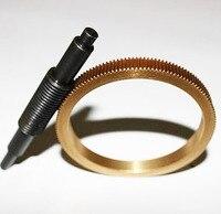 Diameter:73MM Inner Diameter:63mm 0.5M 144Teeths Worm Gear Rod Speed ratio 1:144 Worm reducer Rod length:95MM