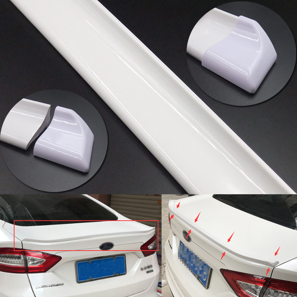 Car & Truck Exterior Parts 4.9Ft Car Roof Rear Wing Lip Spoiler Tail Trunk Trim Sticker Decor Rubber Glossy Car & Truck Spoilers & Wings
