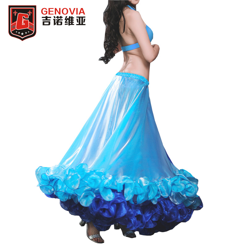 2018 2018 Professional Belly Dance Costume Waves Skirt Dress with S Push Carnival Bollywood