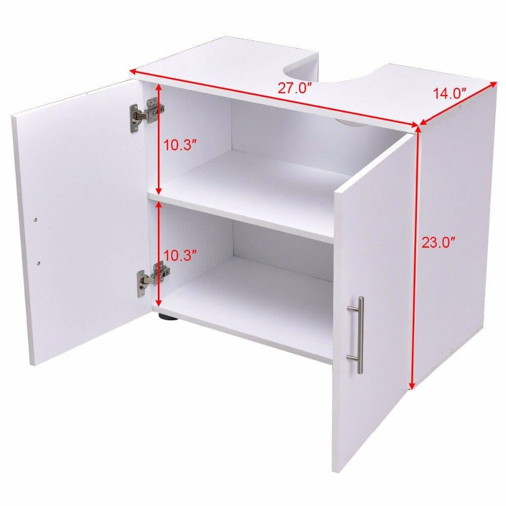 Giantex Non Pedestal Under Sink Bathroom Storage Vanity Cabinet