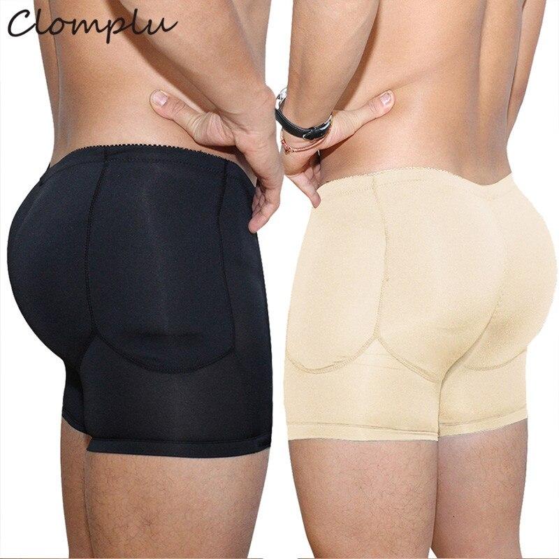 Clomplu Padded Shapewear Kolben-heber Abnehmen Body Shaper Für Männer Booty Enhancer Plus Größe S-6xl Pads Steuer Höschen