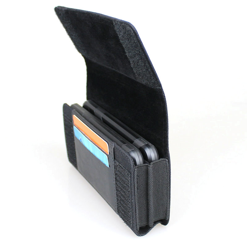 quality design 9b075 bde39 US $11.04 15% OFF|Dual Phone Holster for Two Phones Nylon Double Decker  Belt Clip Pouch Case for 2 iPhone Xs Max Samsung Note 9 Huawei Mate 20-in  ...