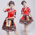 Танец одежда женский костюм 2017 Мяо и Донг Чжуан и яо танец одежда женский Туцзя меньшинства костюм этап де сцена