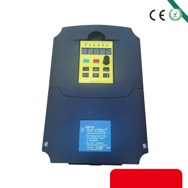 CE 5.5KW 220v single phase input 220v 3 phase output Frequency inverters converters ac motor drive/ac drive/ VSD/ VFD inverter cnc spindle motor speed control 220v 1 5kw single phase input to 220v 3 phase output frequency converter vfd vsd