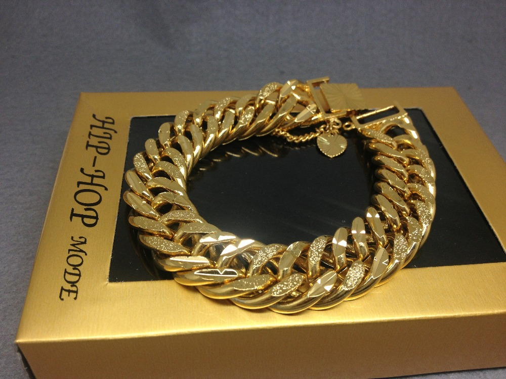 New Mens Iced Out Cz Yellow Gold Silver Finish Miami Cuban