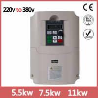 5.5kw/7.5kw/11kw/220 v singola fase di ingresso 380v uscita di fase 3 AC Convertitore di Frequenza ac unità/convertitore di frequenza 220 v/to380v