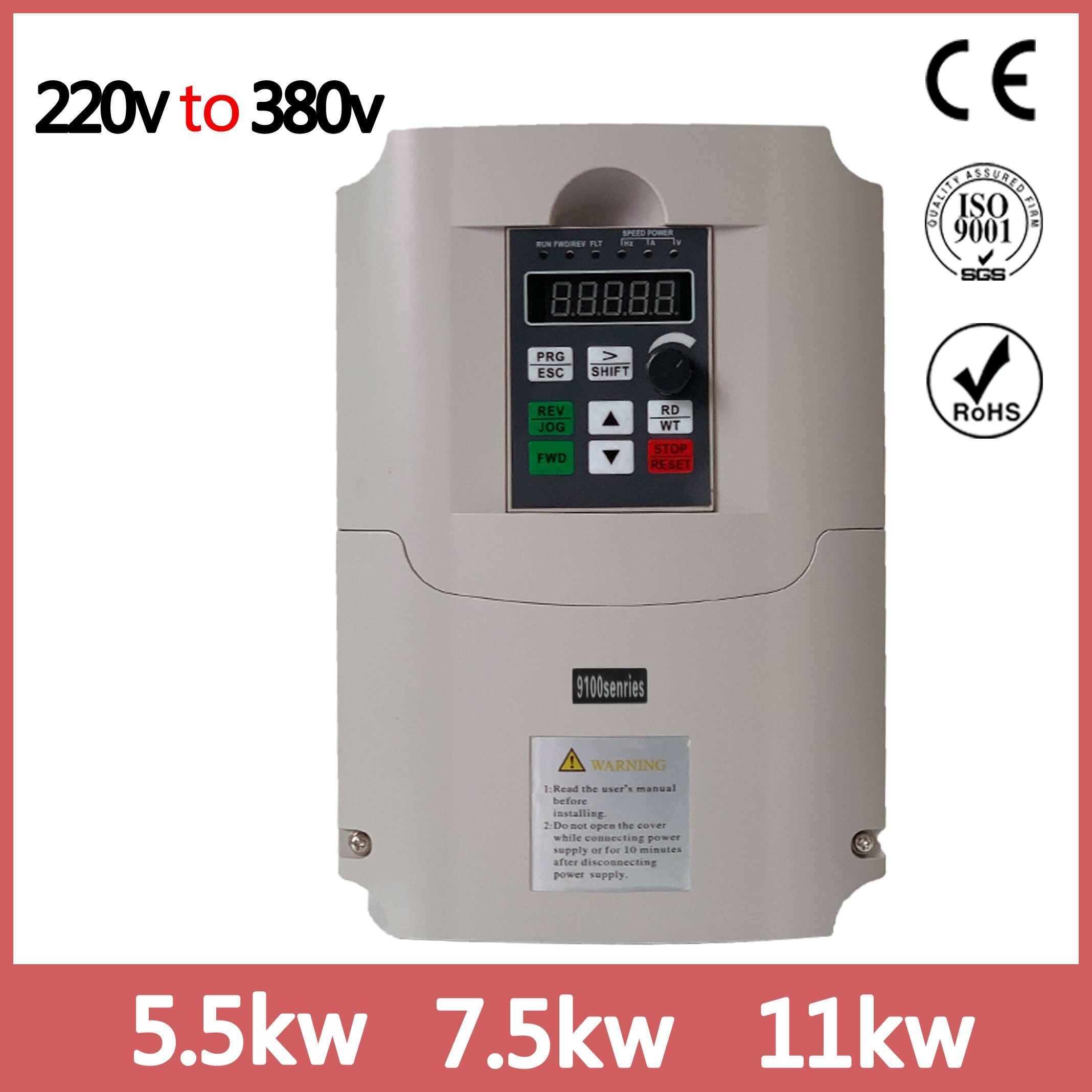 VFD инвертор 5.5квт 220В и 380В выход однофазный 220В бытовой электрический вход и реальный Трехфазный 380В выход|Инверторы и конвертеры|   - AliExpress