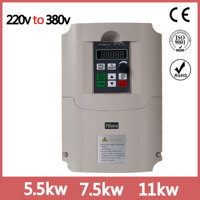 VFD Inverter 5.5KW 220V in and 380V out single phase 220V household electric input and Real Three phase 380V output