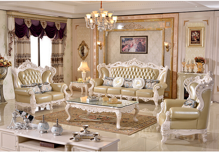 Luxury Wood Funiture Living Room Sofa Set Modern Leather Sofa Foshan Hh988 In Living Room Sofas
