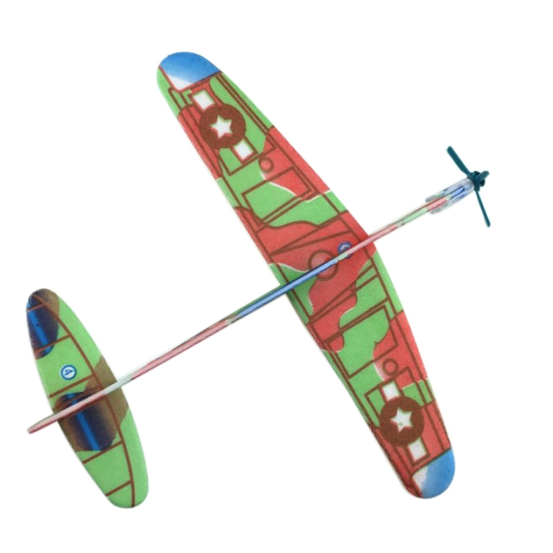 12Pcs DIY Hand Throw Aircraft Flying Glider Toy Planes Airplane Made Of Foam Plast Party Bag Fillers Children Kids Toys Game