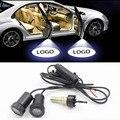 Светодиодный автомобильный фонарь для renault, subaru, ford focus, bmw e90, e46, Nissan, hyundai, accent, Kia, ceed, lada, vesta, chevrolet, дверной светильник с логотипом автомобиля