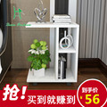 Creative simplicity of large-sized apartment mobile living room side a few small tea table sofa table multifunctional Kung Fu Te