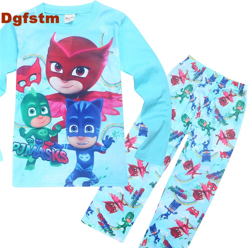 DGFSTM Clothing Set Kids Clothes Boys Sport Toddler Girls Clothes Sets Autumn Full Sleeve Boy T Shirts and Pants Outfits PJMASKS 017 summer baby boys clothing set kids clothes toddler boy short sleeved t shirts shorts girls clothing sets for kid