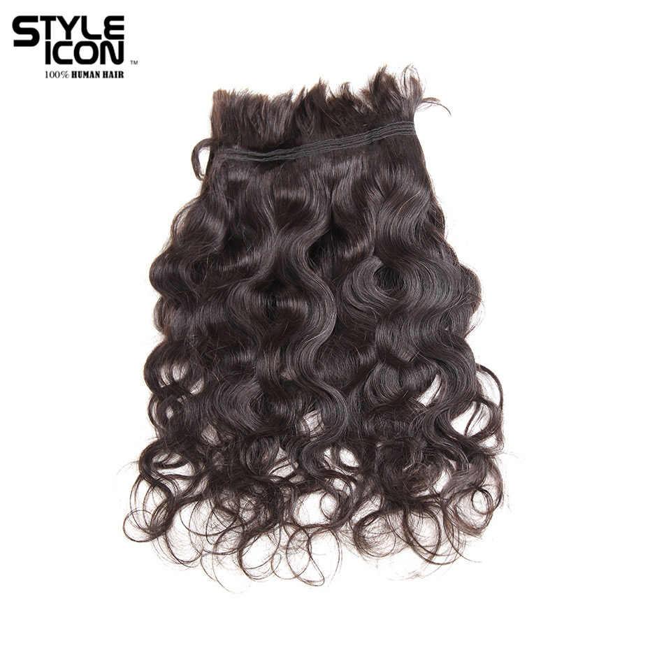 Styleicon Remy Peruaanse Body Wave Bulk Hair Extensions Human Vlechten Haar Bulk Natuurlijke Kleur Vlechten Crochet 4 Bundels Deals