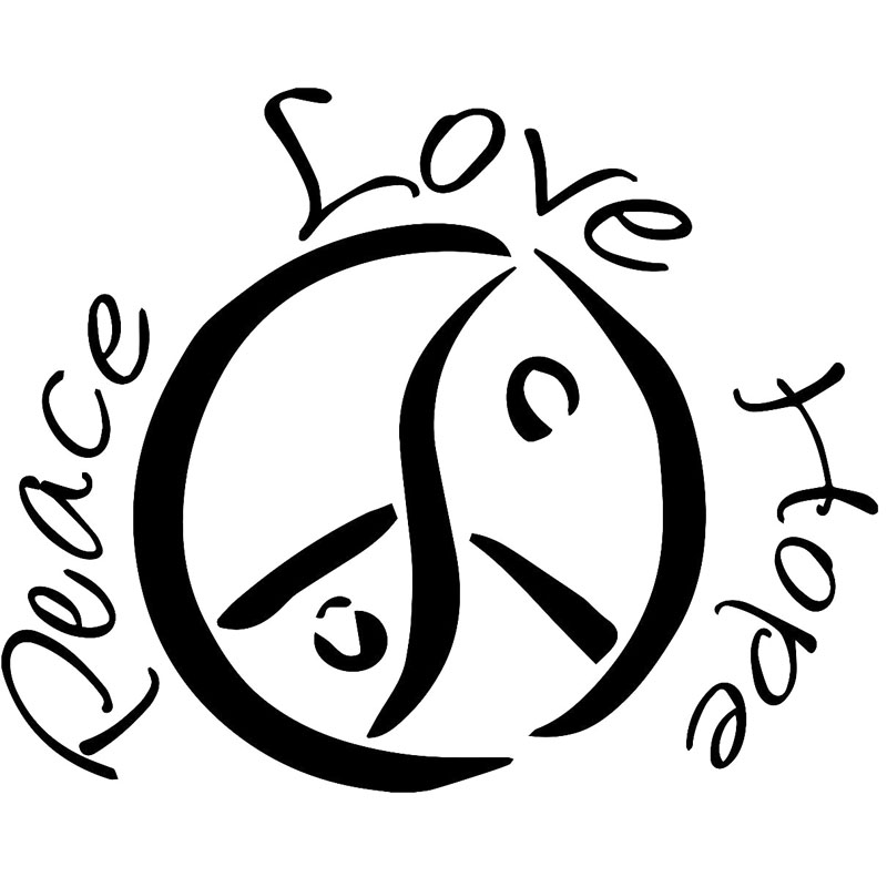 20x162cm Peace Love Hope Originality Vinyl Decal Car Sticker Car