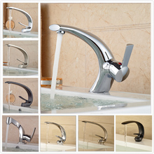 New Promotions Bathroom Hot and Cold Water Basin Faucet Single Lever One Hole Mixer Tap Deck