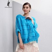 2017 autumn and winter new Fashion Slim mink coat women fur coats Short O-Neck WINTER PALACE