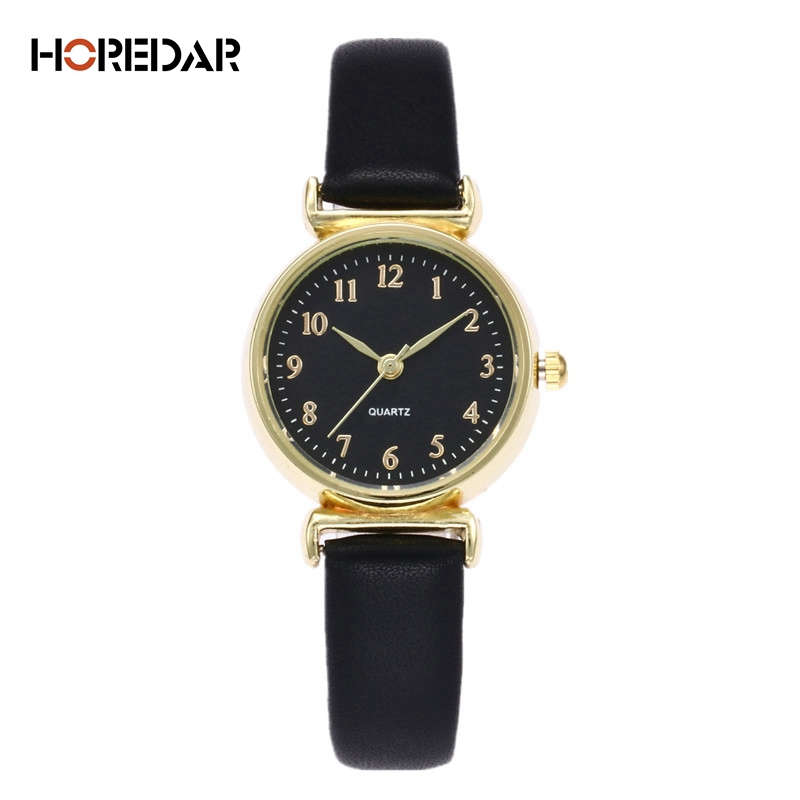 где купить Retro Small Dial Ladies Watches Classic Gold Case Women Quartz Watch Vintage Style Leather Wristwatches Female gift Clock по лучшей цене